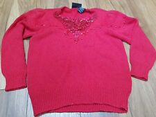 Laidis red  FULLY FASHION  jumper size M