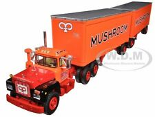 MACK R MODEL TRUCK  MUSHROOM 28' DUAL PUP TRAILERS 1/64 BY FIRST GEAR 60-0286