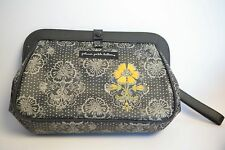Petunia Pickle Bottom Cross Town Clutch Diaper Changing Pad Black Yellow Floral