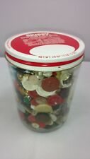Antique Vintage Buttons In Old Glass Skippy Jar Mixed Lot Sewing Crafts