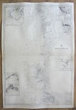 SPAIN PORTUGAL CABO VILLANO TO CABO DE ST. VINCENTE VINTAGE ADMIRALTY CHART MAP