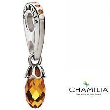 Genuine Chamilia silver 925 umber briolette bracelet charm dangle 2025-0767