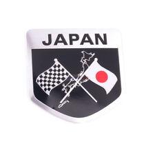 JP JAPAN Flag Racing Badge Metal Side Rear Trunk Emblem Decals Sticker Car Honda