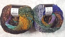 Noro Obi #17 Purple Brown Gold & Green Tones Wool Silk & Mohair Blend 100g