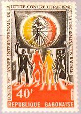 GABON GABUN 1971 423 270 Intl. year against Racial Discrimination MNH