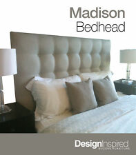 MADISON DELUXE Upholstered Bedhead for Super King Ensemble - Almond