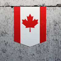 2 x 3D Domed Silicone Stickers Decals Canada National Canadian Flag Car Motorcycle Helmet F 3