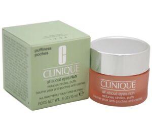 Clinique All About Eyes Reduces Circles Puffs 0.5oz/15ml All Skin Types NIB