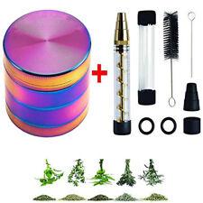 for Herb Tobacco Grinder Herb Grinder Smoking Crusher +Rainbow Glass grinder kit
