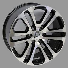 """22"""" Black Machine Face 2015 GMC Split Spoke Style Wheels 22x9 6X139.7 +31 Chevy"""