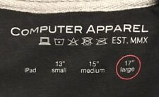"NWT>>Computer Apparel>>V-Neck Sleeve for 17"" Large Laptop>>Zipper Close>>Pockets"