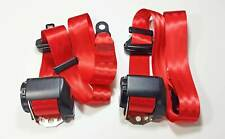 2 NEW indian-red Porsche 986  , Boxster , 97 -01   TRW / REPA SEAT BELT  GERMANY