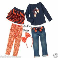 NWT Gymboree PREP PERFECT Outfit Size 6 Top,Jeans,Skirt,Leggings,Hair