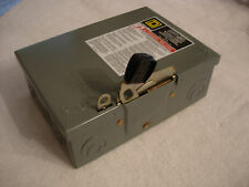 SQUARE D - D211N FUSIBLE SAFETY SWITCH SERIES E, 30 AMP, 120 / 240 VAC / V