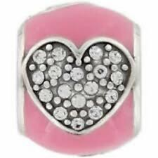 New Brighton BLISSFUL HEART * PINK * Bead / Charm / Spacer Crystals MSRP $21
