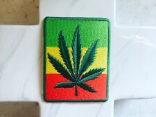 Hippie Festival Smoke Marijuana Leaf Reggae Rock Party Iron On Patches Patch