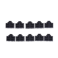 10Pcs Black Ethernet Hub Port RJ45 Anti Dust Cover Cap Protector Plug RA