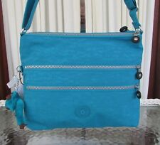 Kipling Large Alvar Crossbody Travel Tablet Bag Cool Blue HB4061 NWT