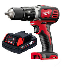 Genuine Milwaukee 18v Lithium Ion M18 Cordless Drill Driver and 2ah Battery