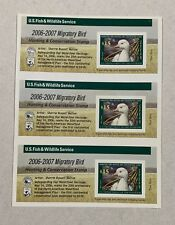#Rw73A 2006 -2007 - Us Federal Duck Stamp - Imperforated Set of 3 - Dings Scuffs