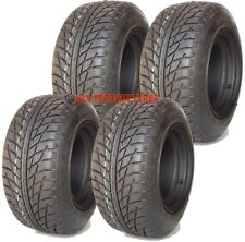 """205/50-10 18x8.00-10 Golf Buggy Cart Tyre and Wheel Rim Assembly 4"""" PCD SET OF 4"""
