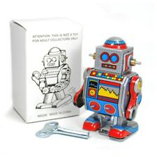 "TIN TOY ROBOT 3"" Collectible Wind Up Cute Tiny Small Mini D Walking Retro Style"