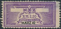 Stamp Germany Revenue WWII 3rd Reich NSZ National Newspaper March 1942 MNG