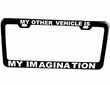Personalized Engraved Black License Plate Tag Frame Holder Metal Text Custom