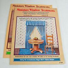 Vintage Miniature Window Treatments Volumes 2 & 3 LaVonne Nye Craft Publications