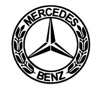 Small Mercedes Badge vinyl car Decal / Sticker x 2