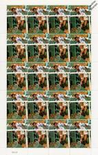YANNICK NOAH 20-Stamp Sheet (WIMBLEDON TENNIS Championships Player)