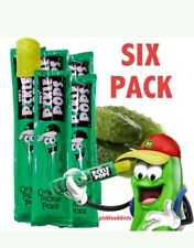 BOB'S PICKLE POPS DILL PICKEL JUICE ICE POPSICLES  6 CT WILL SHIP SAME DAY!!