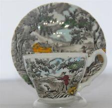 THE HUNTER Tea Cup & Saucer y Myott Staffordshire England; Multi-Color