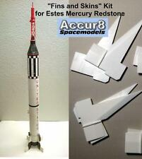 Accur8 Estes Mercury Redstone Molded Fins and Super Detail Skin Kit