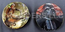 Vintage Brass Slammers Star Wars Darth Vader & Speeder Bike Luke Pogs Milk Caps