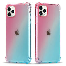 Luxury Gradient Slim Bumper Soft TPU Silicone Case Cover For iPhone 11 7 8 XR XS