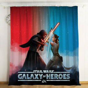 Star Wars Curtains 1 Panel Window Curtain Drapes with Grommets for Bedroom