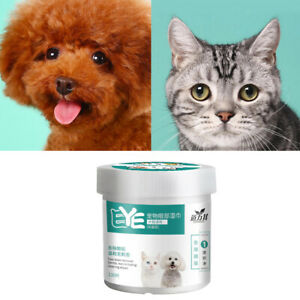 Non-irritating Dogs Eye Ear Wipes Pet Tear Stain Remover Cleaner for Cats Kitten