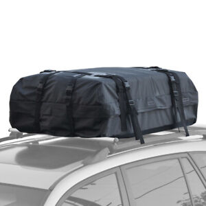 Motor Trend Softshell Cargo Carrier for Cars with Rooftop Racks Easy Install