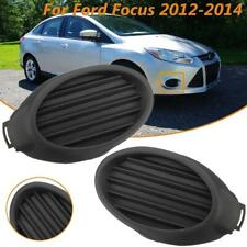 Front Bumper Fog Light Cover Vent Insert Right & Left for 2012-2014 Ford Focus