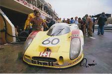REINHOLD JOEST HAND SIGNED PORSCHE 908L 6X4 PHOTO LE MANS 1972.