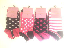 6 Pairs Ladies Trainer Liner Sports Socks Womens Girls Funky Designs Adults Star