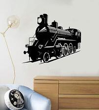 Vinyl Wall Decal Train Railway Child Room Kids Stickers Mural (ig4111)