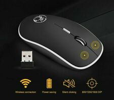 USB Computer Ergonomic Wireless Mouse Opticals Silent PC Mice 2.4GHz For Laptops