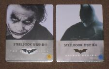 Batman Begins + The Dark Knight Korean Wurple Steelbook Set Korea Blu Ray New