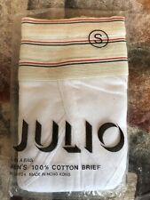 New listing Vintage Dead Stock 70's 80's Julio Men's 100% Cotton Briefs Underwear Size sm