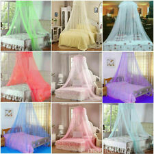 Mosquito Lace Bed Netting Mesh Canopy Princess Round Elegant Home Bedding Net