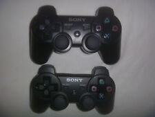 Official Sony Playstation 3 PS3 SixAxis Dual Shock Controller Lot of 2 Black