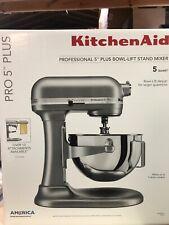 Kitchenaid Pro 5 Plus Professional Series Stand Mixer Silver Gray NEW DAMAGED BO