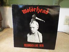 Motorhead Recorded Live 1978 What's Words Worth? UK PRESSING LP VINYL ALBUM